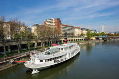 Danube River em Viena Foto de Stock