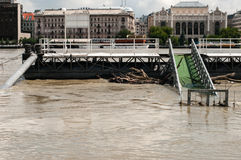 Danube River Flood 2013, Budapest, Hungary Stock Images