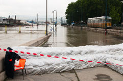 Danube River Flood 2013, Budapest, Hungary Royalty Free Stock Photo