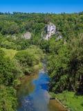 Danube River nära Inzigkofen Royaltyfri Foto
