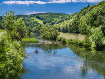 Danube River nära Thiergarten Arkivfoto