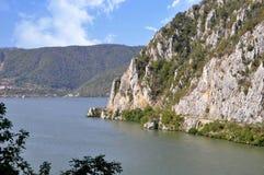 Danube river near the Serbian city of Donji Milanovac. Danube river near the Serbian city of Donji Milanovac stock photo