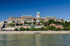 Danube River och Buda Castle, Budapest Royaltyfri Bild