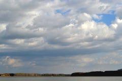 The Danube River in October. Sunday October on the Danube river near Calarasi stock image