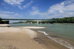 Danube River på Melk Arkivfoto