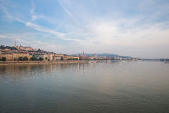 Danube river - panorama. View of Budapest. Embankment. royalty free stock photos