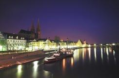 Danube River, Regensburg Stock Images
