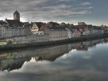 Danube river in Regensburg Stock Image