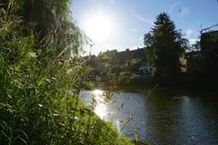 Danube river in tuttlingen Royalty Free Stock Image