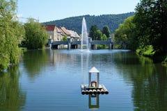 Danube river in tuttlingen Royalty Free Stock Photo