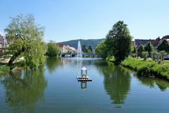 Danube river in tuttlingen Stock Photography
