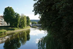 Danube river in tuttlingen Stock Photo