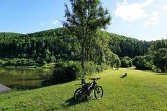 Danube river in tuttlingen Royalty Free Stock Images