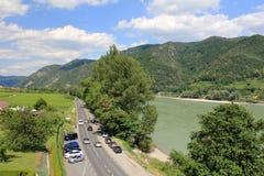 Danube River Wachau dal Arkivbilder