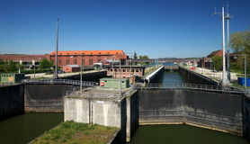 Danube River Water Lock Stock Photo