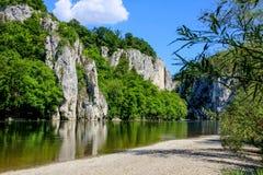 Danube River Weltenburg Royaltyfri Fotografi