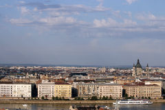 Danube riverside Budapest cityscape Royalty Free Stock Photo