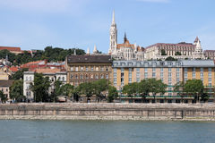 Danube riverside with Fisherman bastion Royalty Free Stock Photography