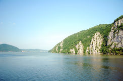 Danube Between Romania And Serbia Royalty Free Stock Image