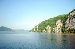 Danube Between Romania And Serbia. River Danube on frontier between Romania and Serbia Royalty Free Stock Image