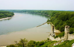 Danube. Ruins of Devin Castle Royalty Free Stock Image