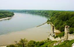 Danube. Ruins of Devin Castle Royalty Free Stock Image