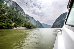 Danube rzeka w Drobeta Turnu Severin Obraz Royalty Free