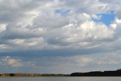 Danube rzeka w Październiku Obraz Stock