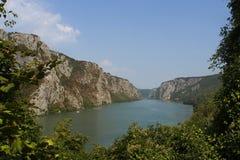 Danube rzeka w Rumunia fotografia royalty free
