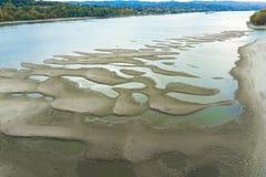 Danube rzeki lowstand obrazy stock