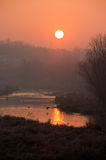 Danube sunrise Stock Image