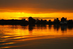 Danube Sunset royalty free stock photo