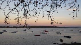 Danube sunset sky Royalty Free Stock Image