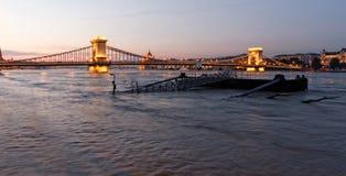 Danube w Budapest zdjęcia stock