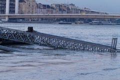 Danube w Budapest obraz stock