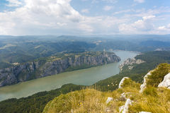 Danube wąwóz Obrazy Royalty Free