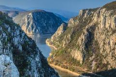 Danube wąwozy Zdjęcie Royalty Free