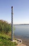 The Danube watermark near Bratislava Royalty Free Stock Photos