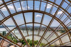 Danube window Hungary Stock Photos