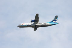 Danube Wings ATR-72. About to land Stock Photos