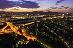 danube wyspy rzeka Vienna Zdjęcie Royalty Free