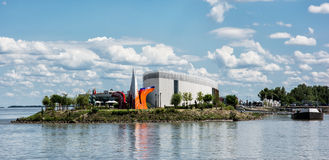 Danubiana muzeum sztuki na banku Danube rzeka, Sistani Obraz Stock
