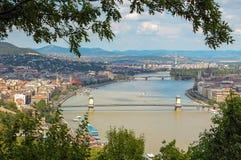 Danubio - Budapest Fotos de archivo libres de regalías