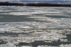 Danubio congelado Imágenes de archivo libres de regalías