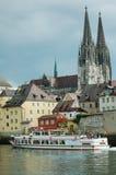 Danubio en Regensburg Foto de archivo libre de regalías