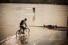 Danubio hinchado Fotos de archivo libres de regalías