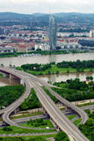 Danubio a Vienna fotografia stock