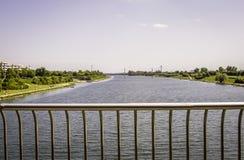 Danubio a Vienna, Austria Fotografia Stock