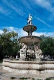 Danubius-Brunnen in Budapest ein sonnigen Tag des Sommers Lizenzfreies Stockbild