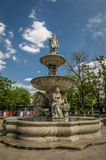 Danubius fountain. In Budapesť - Hungary Royalty Free Stock Photos
